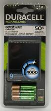 Duracell Fastest Smart Charger w/ 2AA 2AAA Rechargeable Batteries 80273407