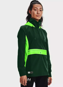 NWT$80 Under Armour Women's UA Accelerate Off-Pitch Anorak Green 1365422