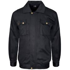 Supertouch Polycotton Mens Work Drivers Jacket Coat Uniform Warehouse S to 4XL