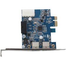 2-Port USB 3.0 PCI-E Express Card HUB Adapter Card Internal 20Pin 4Pin DI