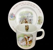 Wedgwood Beatrix Potter Mrs. Tiggy-Winkle Hedgehog Child's Plate & Cup Mug
