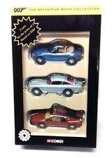 Corgi Classics Toys Definitive JAMES BOND collection movie 3 car set pristine!