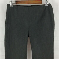 TALBOTS elegant womens size 6 stretch gray mid rise tapered dress career pants