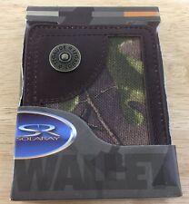 Men's Camo Wallet New In Box Camouflage 12 Gauge Solaray New In Box Premium