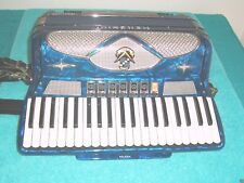 Blue Menghini Cavalier 3 & 5 Reeds accordion Morbidoni  accordian Very rare