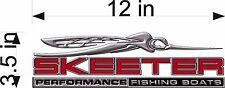 "SKEETER Boats 3D Logo / RED / 12"" Vinyl Vehicle Decal Watercraft Graphic Sticker"