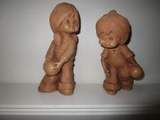 2 VINTAGE 1970s BILL MACK FANNYKINS CLAY FIGURINES GUTTER BALL & HIGH ROLLER