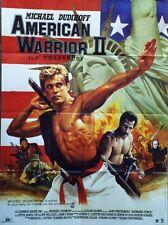 """AMERICAN WARRIOR II (AVENGING FORCE)"" Affiche originale (Michael DUDIKOFF)"