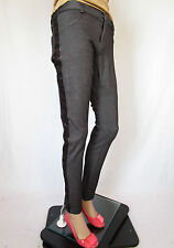 Tally Weijl Damen Party Club Sexy Hose Hose Pailletten Skinny SZ 16 XL AQ31