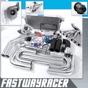 Supra IS300 SC300 GS300 2JZ-GE 2JZGE GT35 T4 Turbo Kit .68AR 3'' V-BAND