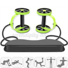Gym Abdominal Abs Roller Waist Wheel Handle Fitness Exercise Workout Machine Us/