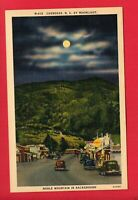 CHEROKEE NC BY MOONLIGHT SHELL GAS STATION OLD CARS BUSINESSES    POSTCARD