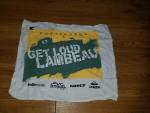 Green Bay Packers GET LOUD LAMBEAU Postseason Towel