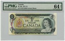 1973 Bank of Canada $1 Note BC-46a PMG Choice UNC 64 NET PVC