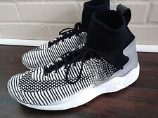 NEW Nike Mens Air Zoom Mercurial XI FC Black & White Size 8.5 flyknit