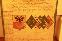c1700 medieval genealogy manuscript 1630 king advisor familly coat of arms #2