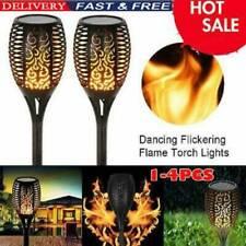 4x Waterproof Solar Torch Dance Flickering Flame Light Garden Outdoor Lamp Decor
