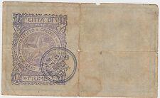 FIUME 25 Kronen / Korona 1918 Austria Hungary CITTA DI FIUME Consiglio Nazionale