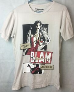 Threadless BLAM I Don't Want To Die Comic Look Tshirt Off White Colour Size S