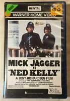 Ned Kelly VHS 1970 Tony Richardson Mick Jagger 1983 Warner Home Video Ex-Rental