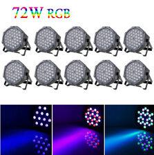 36 LEDs 80W 10PCS Par Can Stage Light RGB DMX512 Disco Party Wedding Uplighting