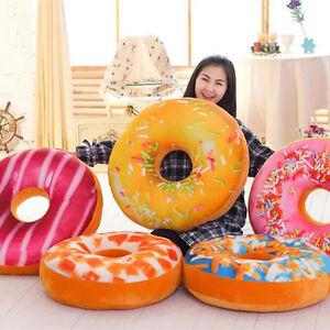 3D Soft Plush Donut Cushion Waist Pillow Sofa CarS Seat Home Decor Toy Fashion
