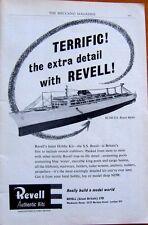 RARE 1960 Revell S.S. BRASIL model kit  ORIGINAL MAGAZINE AD