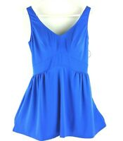 Swimsuits for All Women's Swimsuit One Piece Swimdress Blue V-Neck Tummy Control