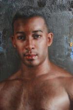 "Fine art nude male original oil painting on canvas handsome men 24""x36"""