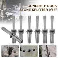 "7 Set 9/16"" Plug Wedges & Feather Shims Concrete Rock Stone Splitter Hand Tool"
