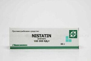 Nistatin ointment 30 g (1 oz) Нистатиновая мазь