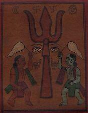 Tantrik Tantra Painting Handmade Asian Indian Tantric Yantra Religion Folk Art
