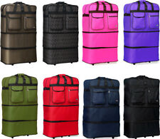 30' L Expandable Rolling Duffel Bag Wheeled Spinner Suitcase Duffel Bag Luggage