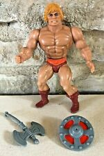 MOTU He Man with Axe & Shield Masters of the Universe 1982 Original Series