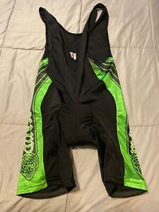 "Bergamo black & green 3xl Cycling Bibs shorts ""Ireland"""
