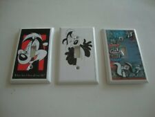 PEPE LE PEW Light Switch Cover Covers x 3 Wall Plate - NEW
