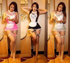 Sexy Durchsichtig Spitzen Rand Maid Kellnerin Cosplay Kostüm, Uniform UK: S M