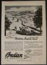 WWII Indian Motorcycle Ad *Modern Indian Trails* 1944