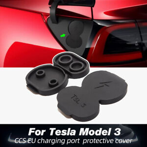 For Tesla Model3 Europe Car Charging Port Dust Plug Protective Cover Accessories