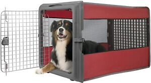 LG Pop Up Pet Travel Crate Cage Folding 4 Side Window Kennel Dog Cat Locking New