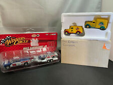 Matchbox Pony Express & Dale Earnhardt Jr Pickup Truck w Trailer NASCAR Lot