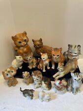 Vintage ceramic cat lot Of 15 Enesco Josef Originals Napcoware And Unbranded