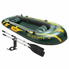 INTEX Seahawk 4 Boat Set Four Person Oars Pump Fishing Raft PVC