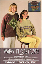 """UNCUT ©1998 Indygo Junction Sewing Craft Pattern # IJ562 """"Warm 'N Cozyover"""" S-XL"""