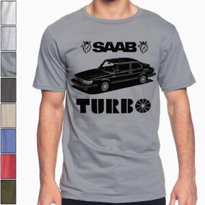 Saab 900 Turbo Soft Cotton T-Shirt Multi Colors S-3XL Rally Racing Wrc