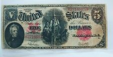 $ 5 US Dollar Banknote SERIES 1907  LARGE SIZE   (( VF+ ))