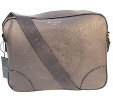 b534a1271 Ted Baker Embossed Messenger Men s Handbag 100% Genuine Chocolate