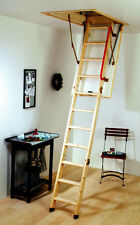 YOUNGMAN ECO S LINE TIMBER/ WOODEN  FOLDING LOFT LADDER & HATCH