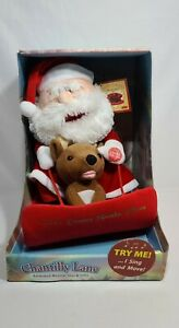 Animation & Motion Plush Singing Dancing Duet Santa and Reindeer on Sleigh Plush