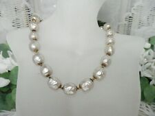 Gorgeous Miriam Haskell Extra Bumpy & Large Baroque Pearl Necklace